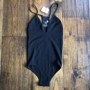 Intimately Free People Black Strappy Bodysuit NWT